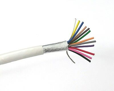 25' 12 Conductor 22 Gauge Shielded Cable, CMR Rated 25 Foot Length ~ 12C 22AWG