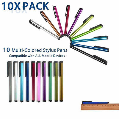 10 x UNIVERSAL TOUCH SCREEN STYLUS PENS for ALL Mobile Phones Tablet PC iPad