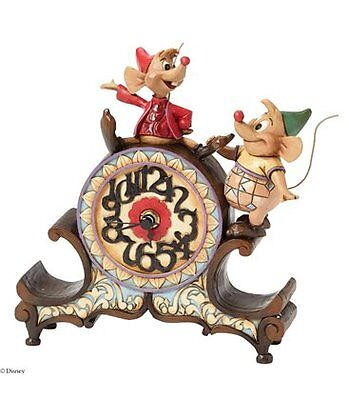 Disney Traditions A Stitch in Time Jaq and Gus Clock New Boxed Jim Shore