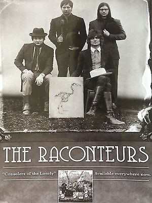 """THE RACONTEURS # CONSOLERS OF THE LONELY # ORIGINAL 2008 ALBUM ADVERT # 11"""" x 8"""""""
