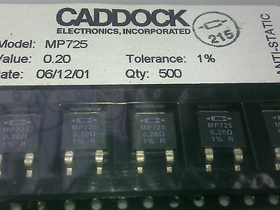 [5 pcs] Caddock MP725 0.2 Ohm 1% 25W Power  Resistors non inductive SMD D-Pak