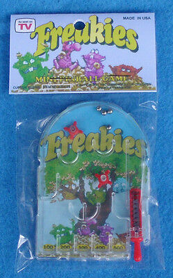 Freakies Mini PINBALL game package Custom Toy dime store prize cereal