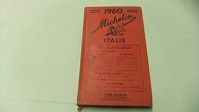 1960 Michelin Guide to Italy, Italie, in French