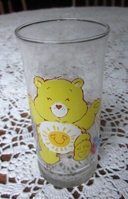 Pizza Hut Funshine Bear 16 Oz Drinking Glass Limited Collector Care BearsSeries
