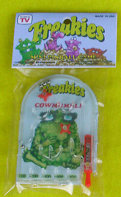 Freakies Mini PINBALL game package Custom Toy dime store prize cereal cowmumble
