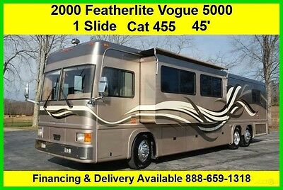 2000 Featherlite Vogue 5000 Used Diesel Pusher Motor Home Coach RV MH Motorhome
