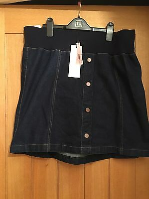 Ladies Maternity Denim Skirt Size 16 BNWT