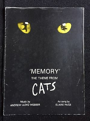 'Memory' the theme from Cats Sheet Music       7 Pages