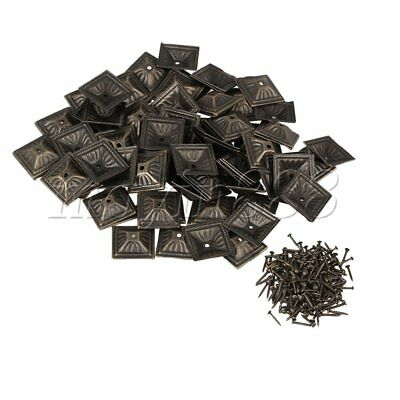 100x Upholstery Nails Tacks Studs Furniture Pins with Square Nailhead 21x21mm