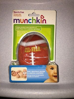 3935 New Munchkin FOOTBALL Sports Cup 4 Baby Boy Surprise Squirts DISCONTINUED