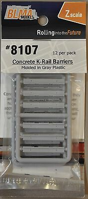 1:220 Z Scale Model K-Rail Barriers - Accesory Pack Of 12