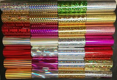 "Kingsley Howard Hot Stamping Holographic Foil - 3"" x 95' - 28 Styles - Free Ship"