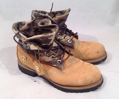 Men's Timberland Boots Retro Vintage Brown  Size 8.5Uk 9W US