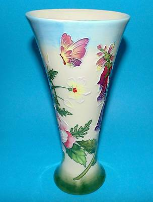 OLD TUPTON WARE pottery vase ' Floral Pattern ' BOXED  (6573A)
