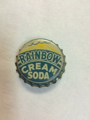 "VIntage ""Rainbow Cream Soda"" Soda Bottle Cap, NOS Cork Lined--RARE•LOOK•"