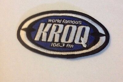 106.7 KROQ Embroidered Patch Vintage 1990s RARE!
