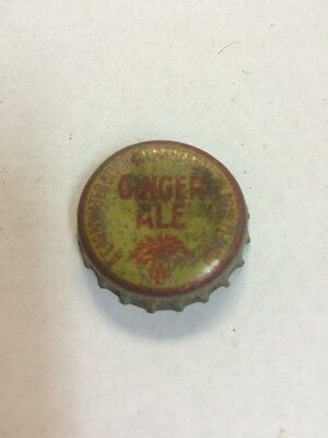 Vintage Ginger Ale Soda Bottle Cap Sc Palmetto Tree Tax Stamp. Cork Lined