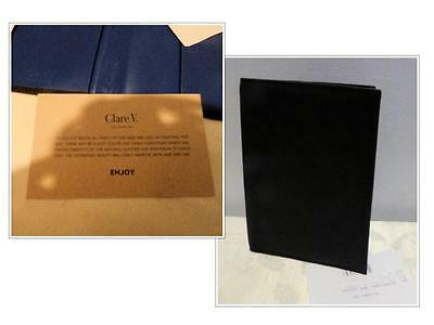 $109.00 Clare V. Los Angeles Passport/ Travel document pouch, Leather, Black