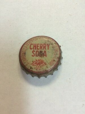 Vintage Cherry Soda Bottle Cap Sc Palmetto Tree Tax Stamp. Cork Lined