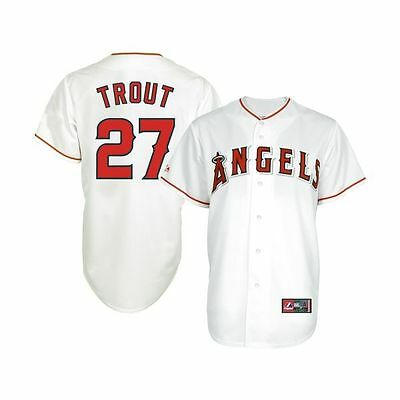 Majestic MLB Los Angeles Angels Replica Baseball Jersey - Mike Trout (Youth M)
