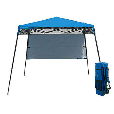Quik Shade Backpack Sun Canopy Instant Pop-Up Awning Gazebo (Blue)