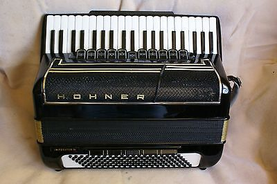 """Nice HOHNER® """"IMPERATOR IV """"accordion/accordian!4 reed sets!Double Tone Chamber!"""
