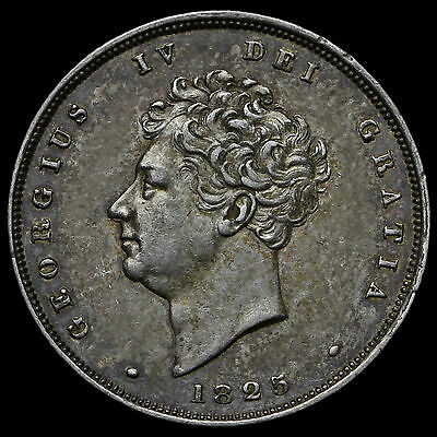 1825 George IV Bare Head Milled Silver Shilling – EF