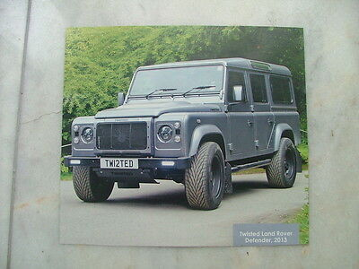 Land Rover Twisted Defender 110 colour picture photo poster VGC