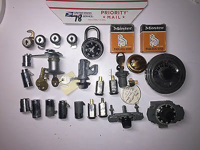 Locksmith-Student-Lot of Lock Cylilnders for Parts or Practice (78)