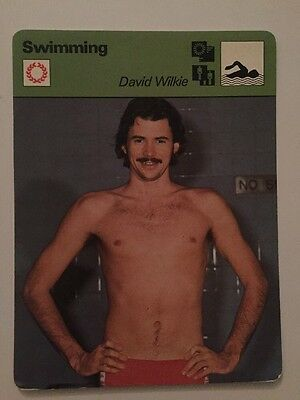 Sportcaster Rencontre Sports Card - Swimming - David Wilkie!