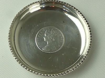 (REF165CO 2) Silver Antique Victorian One Rupee 1860 Bowl