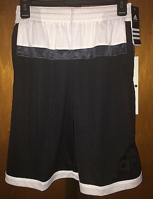 NWT Boys BLACK Adidas BASKETBALL Shorts Size Medium ( 10/12 ). Really Nice!!