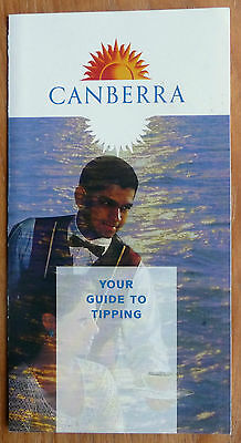 Canberra - Your Guide To Tipping - P&o Cruises - 1996