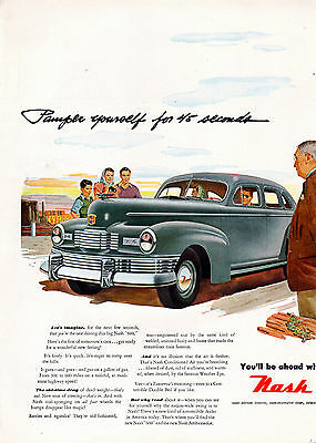 "1947 Nash ""600"" car ad with Air Conditioning-[-169"