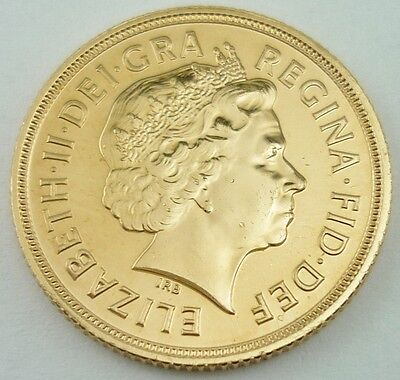 2012 Elizabeth II Great Britain 22k Gold Full Sovereign Coin UNCIRCULATED~3848B