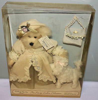 Teddy Bear Walking my Dog Fancy Ladies Collection 81014 Lisa Bear and Puppy