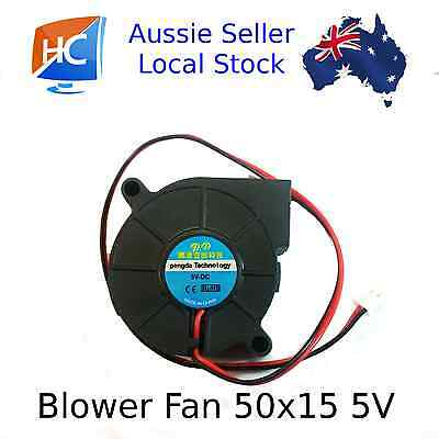 Blower Fan 50mm x 50mm x 15mm 2pin 5V Cooling Fan Pengda - Aussie Seller