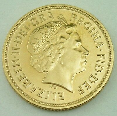 2012 Elizabeth II Great Britain 22k Gold Full Sovereign Coin UNCIRCULATED~3852B