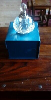 Cut Glass Scent Decanter. New & Boxed. Ideal  Gift.