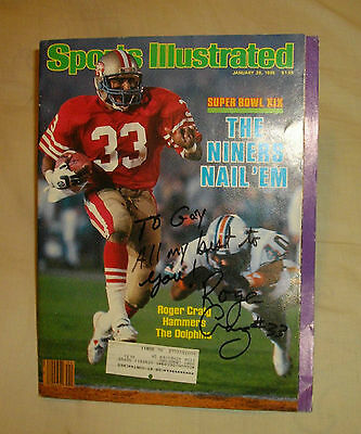 Roger Craig Autographed 1985 Sports Illustrated Full Mag!