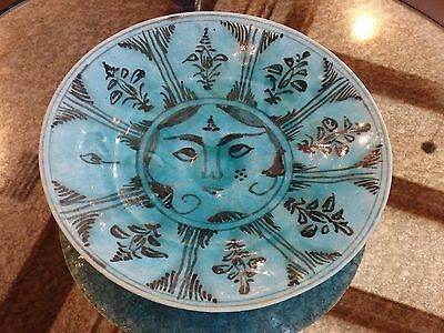 Persian Pottery Ceramic Bowl.plate Middle Eastern.gazed.islamic.antique.asian