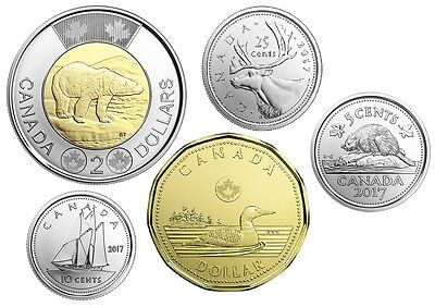 2017 Canadian Coin from Set - Uncirculated P-L Coins *PreSale*