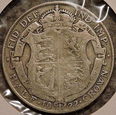 British Silver Half Crown - 1922 - King George V - $1 Unlimited Shipping