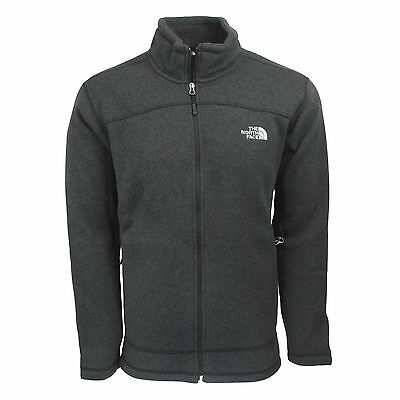 The North Face Men's Leo Sweater Full Zip Jacket TNF Black Heather S