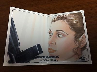 Star Wars The Empire Strikes Back Illustrated Sketch Card 1/1 RHIANNON OWENS SP