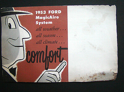 Vintage 1953 Ford Advertising Brochure  - MagicAire System