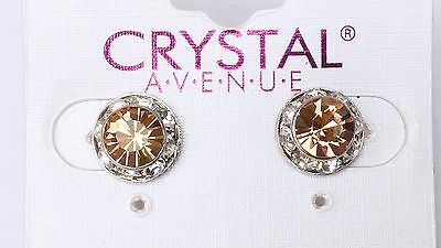 Gold crystal earrings dance moms Ballroom competition perfomance swarovski kids