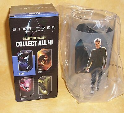 STAR TREK KIRK Collectible Glass, NEW IN BOX, SEALED!  Paramount Pictures