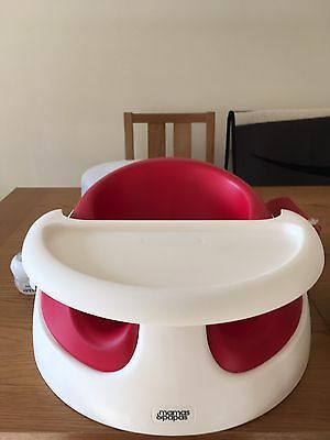 White Red Mamas and Papas Baby Snug Feeding Booster Chair