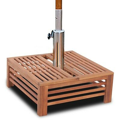 New Wooden Parasol Stand Cover Acacia Hardwood Oil Finish Weather-resistant